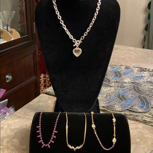 Jewelry - Beautiful set of four necklaces with Rhinestones